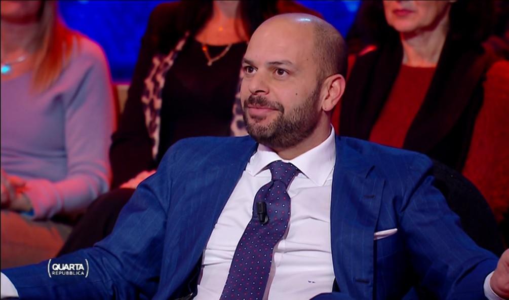 Valerio D'Angelo, AD di Citel Group, ospite alla trasmissione Quarta Repubblica
